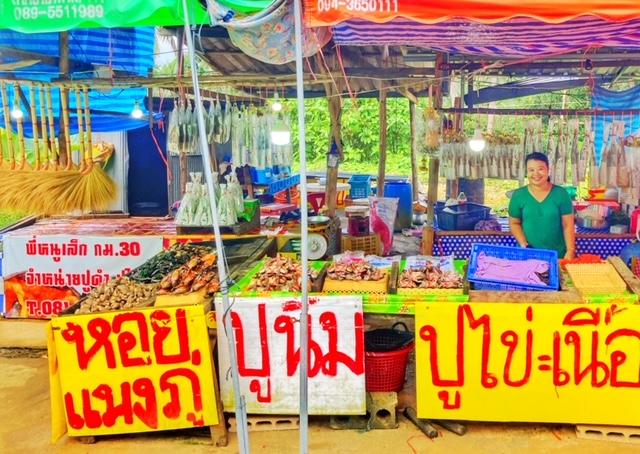 Krebs, Hummer, Muscheln frisch von der Andamanensee