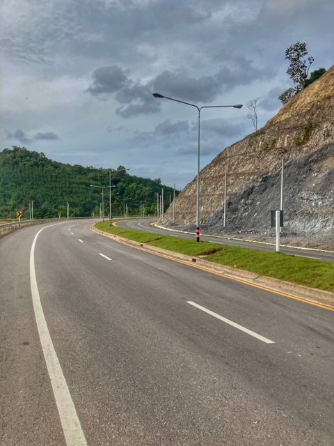 Straßenbau für Fahrradtour Chumphon Ranong