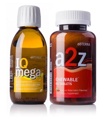 doTERRA IQ Mega und a2z Kautabletten Pack