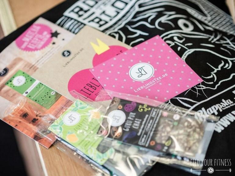 CrossFit Bloggertreffen Goodie Bags von Lieblingstee