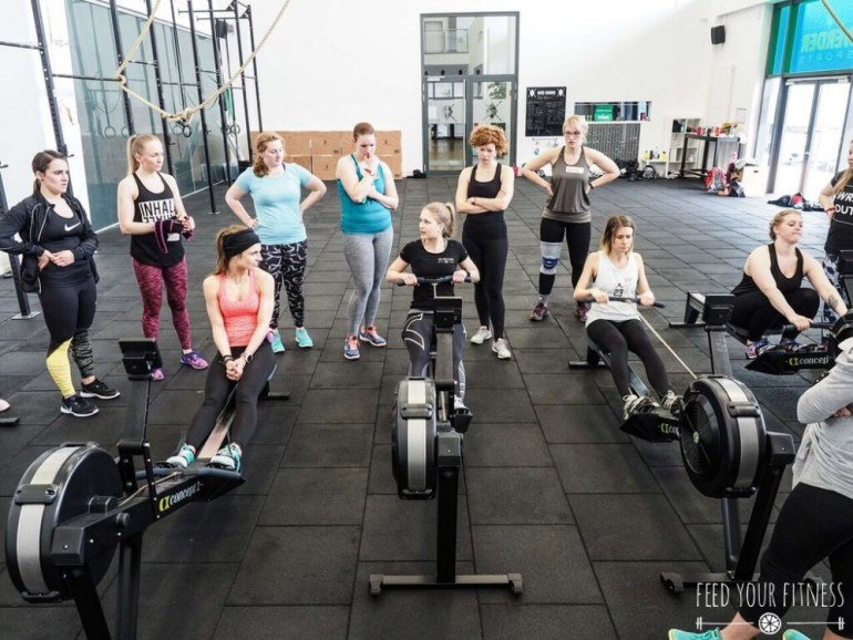 CrossFit Bloggertreffen von FEED YOUR FITNESS Rudern