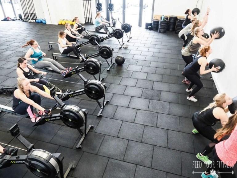Rudern und Wall Balls beim CrossFit Bloggertreffen von FEED YOUR FITNESS