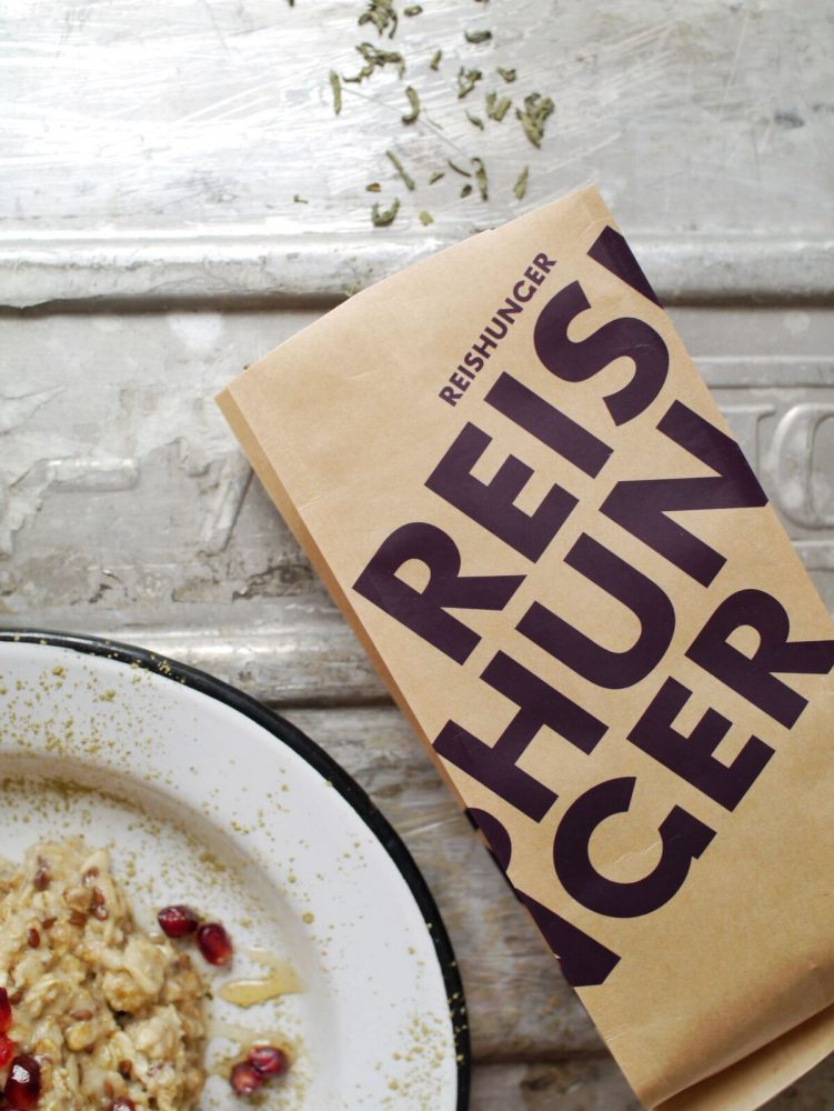 Reishunger Reistee für das Teainfused Oatmeal
