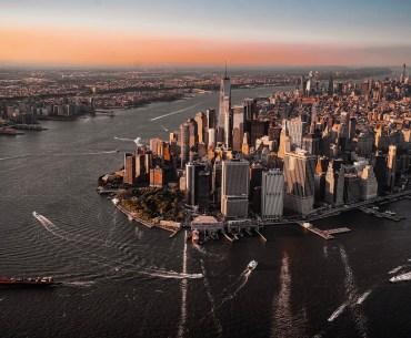 Helikopter Flug über New York Manhattan