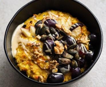 Karotten-Kurkuma-Porridge | vegan & einfach