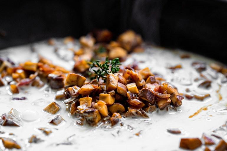 Rezept für vegane Pilzrahmsauce auf lebensverliebt.de