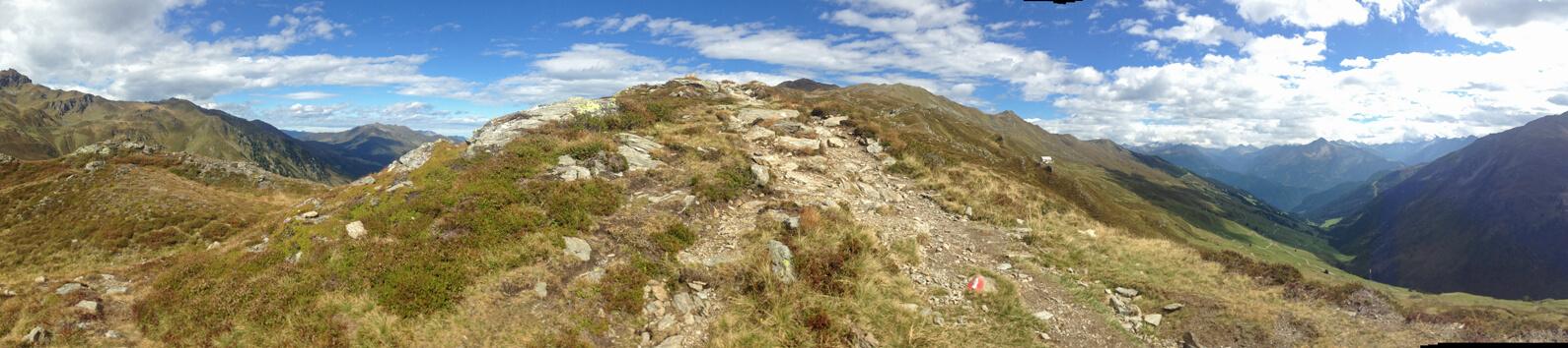 Panorama Richtung Zillertaler Alpen