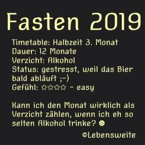 Fasten März 2019