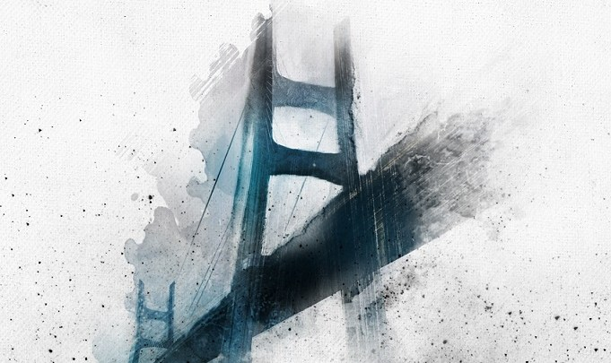 Un pont sur la brume