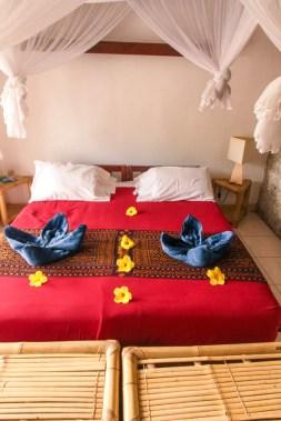 Bed at the Kelimutu ecolodge