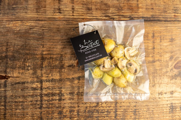 Batatas e cogumelos paris