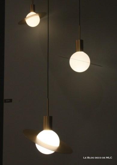 luminaires suspension cuivre elipse