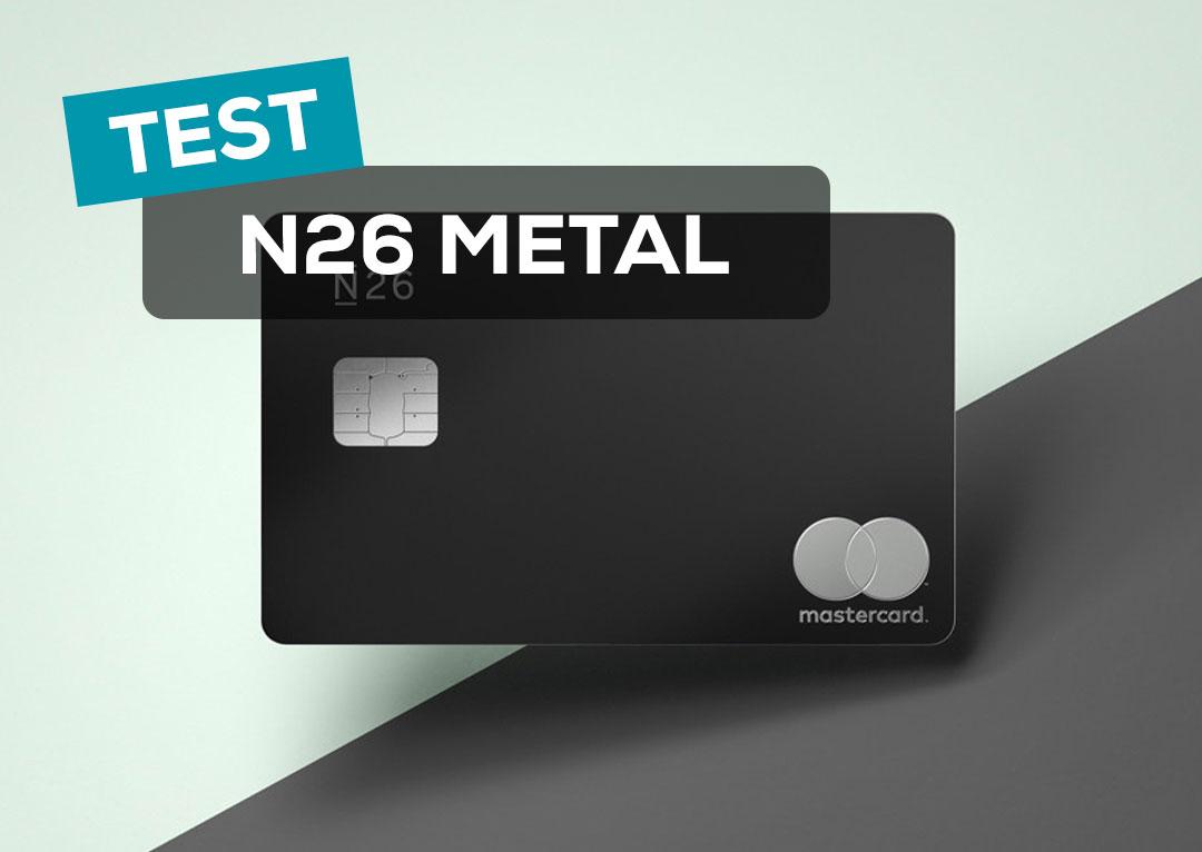 Test du compte N26 Metal