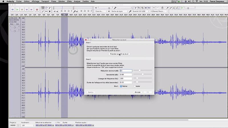 Améliorer votre piste audio avec Audacity
