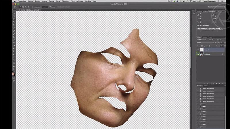 Le filtre antipoussière pour améliorer le rendu d'un visage
