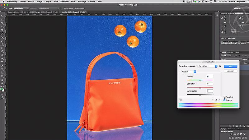 Modifier la couleur d'un objet avec Photoshop