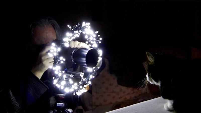 Fabriquer un ring avec une guirlande de Noël