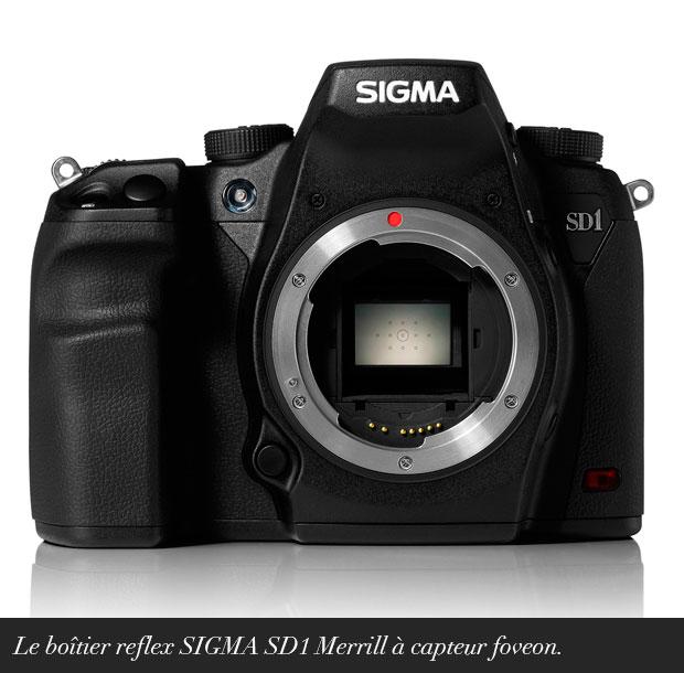 Le boîtier reflex SIGMA SD1 Merrill à capteur foveon.