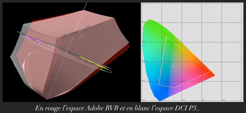 DCI P3 vs Adobe RVB