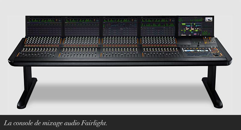 Console de mixage Fairlight.