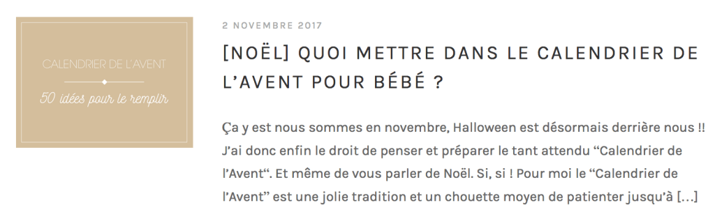 CALENDRIER DE L'AVENT ENFANT 2018