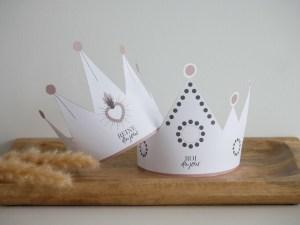 Couronnes des rois à imprimer