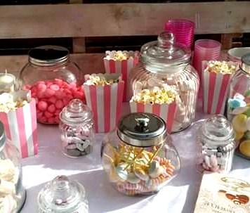 pop corn et bonbons rétros