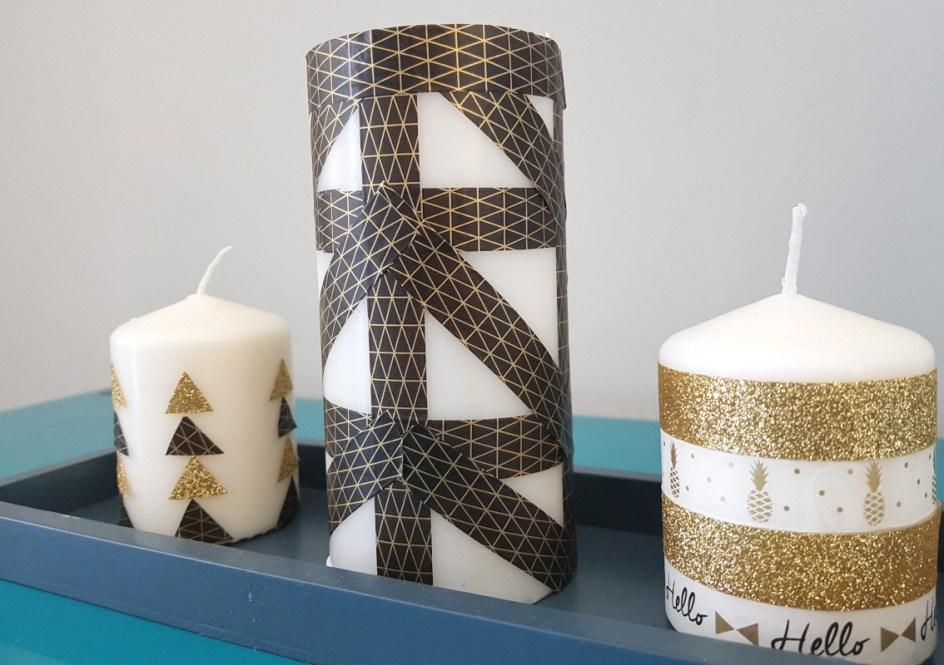 triptyque bougies