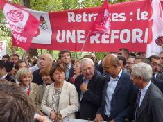 Aubry 2010 contre réforme des retraites