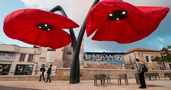 hq architects lampadaire geant fleur