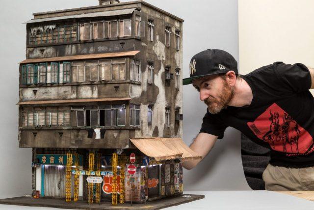 Joshua Smith miniatures de bâtiments abandonnés
