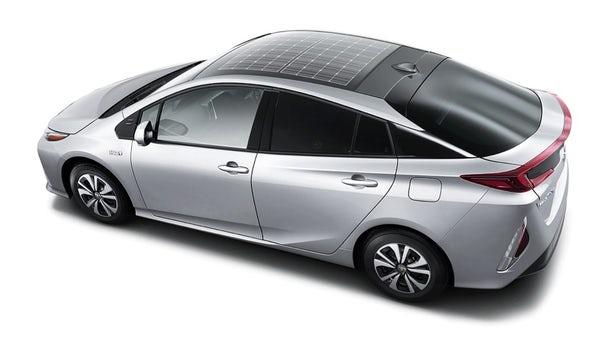 toits de voitures solaires Toyota prius
