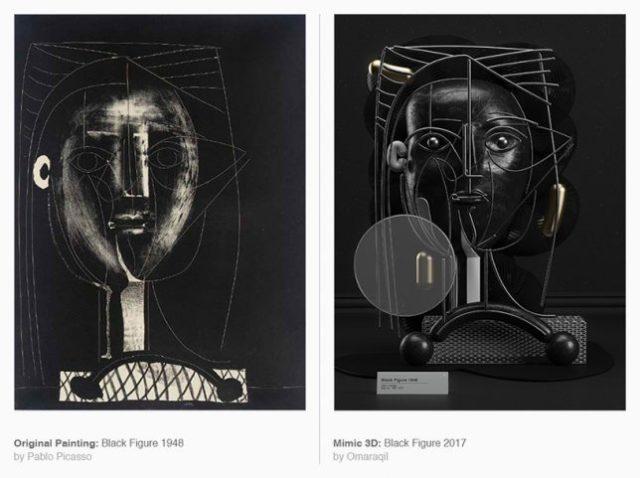 Picasso en 3D
