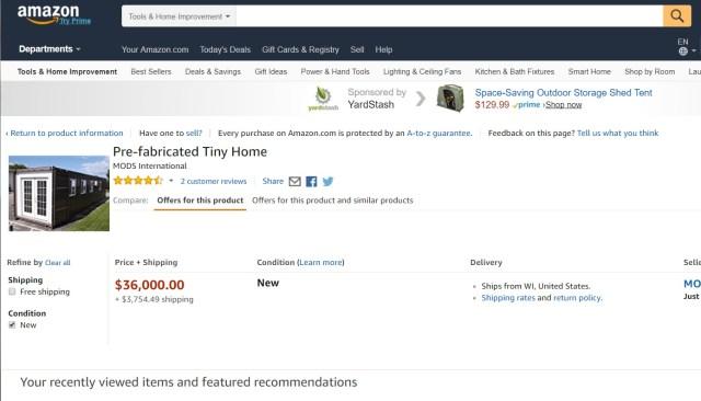 Acheter une maison sur Amazon
