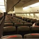 Mars 2015 , um avião quase vazio para Miami