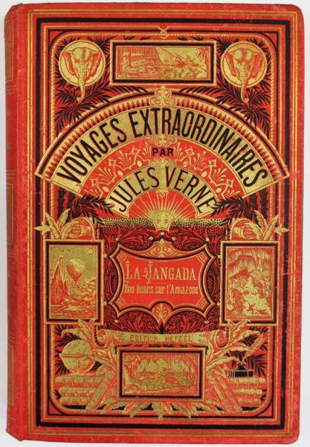 Primeira edição de La Jangada de Jules Verne (1881)