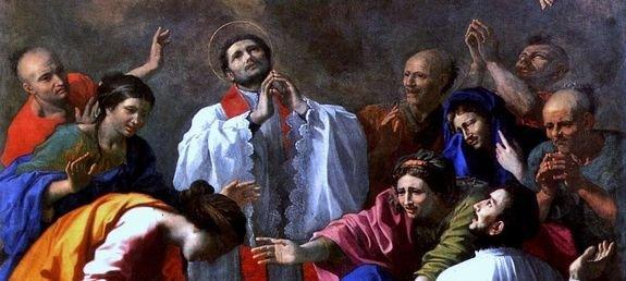 Poussin -Miracle de saint François-Xavier - détail 1