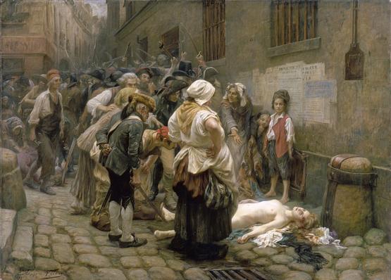 Le corps de la Princesse de Lamballe jeté à la rue avant d'être dépecé le 3 septembre 1792