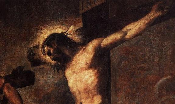 Tiziano-la-Cristo-y-el-bueno-ladrón-detalle perdón