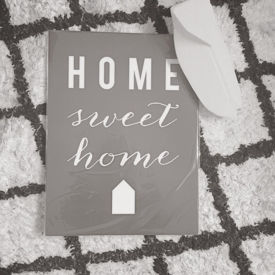 Home sweet home !