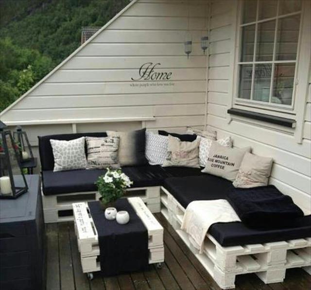 Salon de jardin en mode recup !
