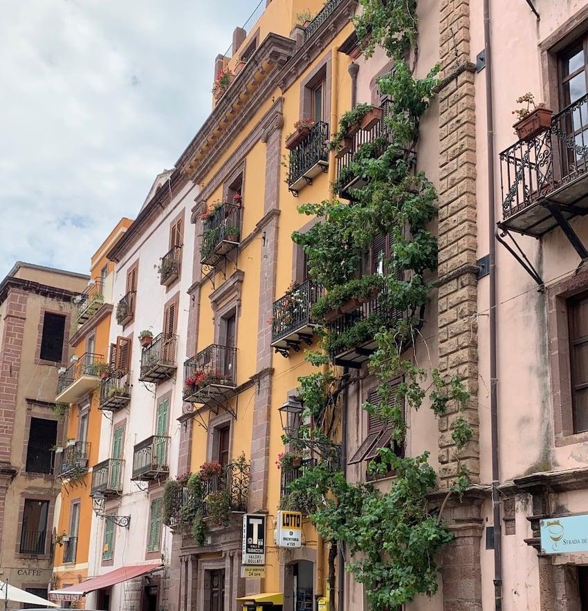 La ville de bossa en Sardaigne