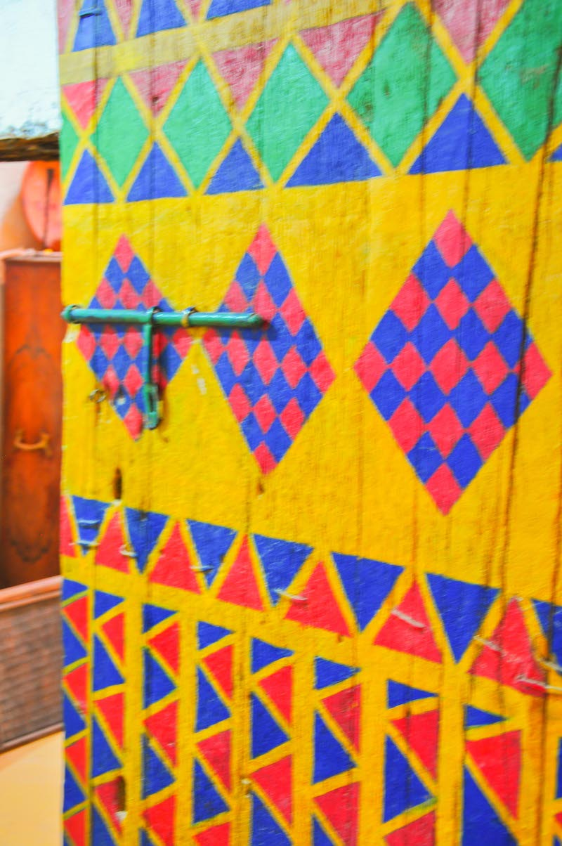 porte décorée