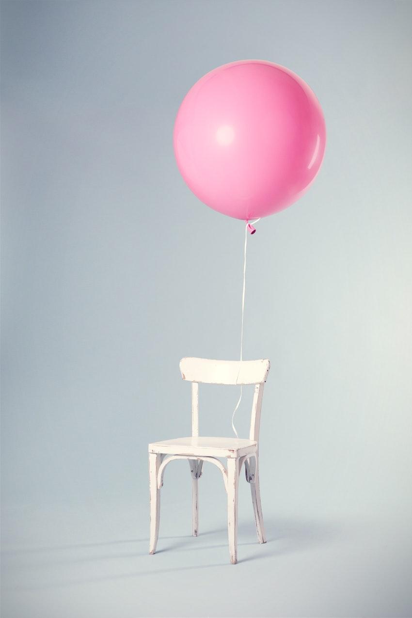 Ballon attaché une étiquette