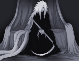 Uchiha Madara living off the ten tails' husk.