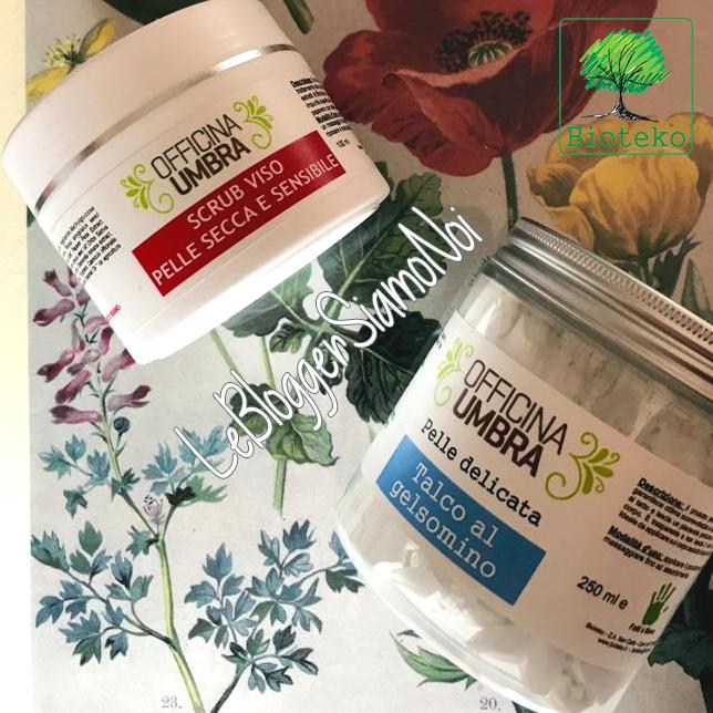 Bioteko, OFFICINA UMBRA - Scrub viso pelle secca e sensibile - Talco al gelsomino