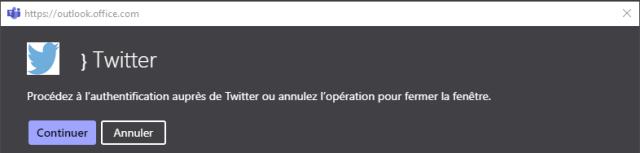 https://cutlcck.cffice.ccm  } Twitter  Procédez à l'authentification auprès de Twitter ou annulez l'opération pour fermer la fenêtre.  Continuer  Annuler