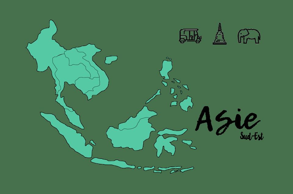 Notre itinéraire en Asie