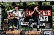 Bastien (guitar, vocas), Franck (vocals, harmonica). Blackberry'n Mr Boo-Hoo @ 4ème Blues Party, Les Jardins du Millenium, l'Isle d'Abeau (France), 04.06.2016. (c) Christophe Losberger