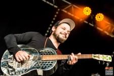 Thierry Jaccard (guitar, vocals). The Two @ 4ème Blues Party, Les Jardins du Millenium, l'Isle d'Abeau (France), 04.06.2016. (c) Christophe Losberger